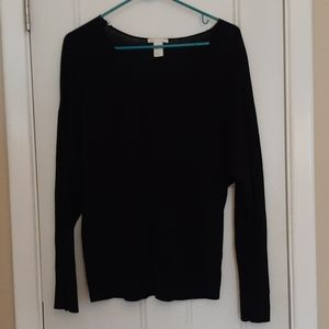 Navy relaxed sweater